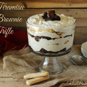 Tiramisu Brownie Trifle  Rose Bakes