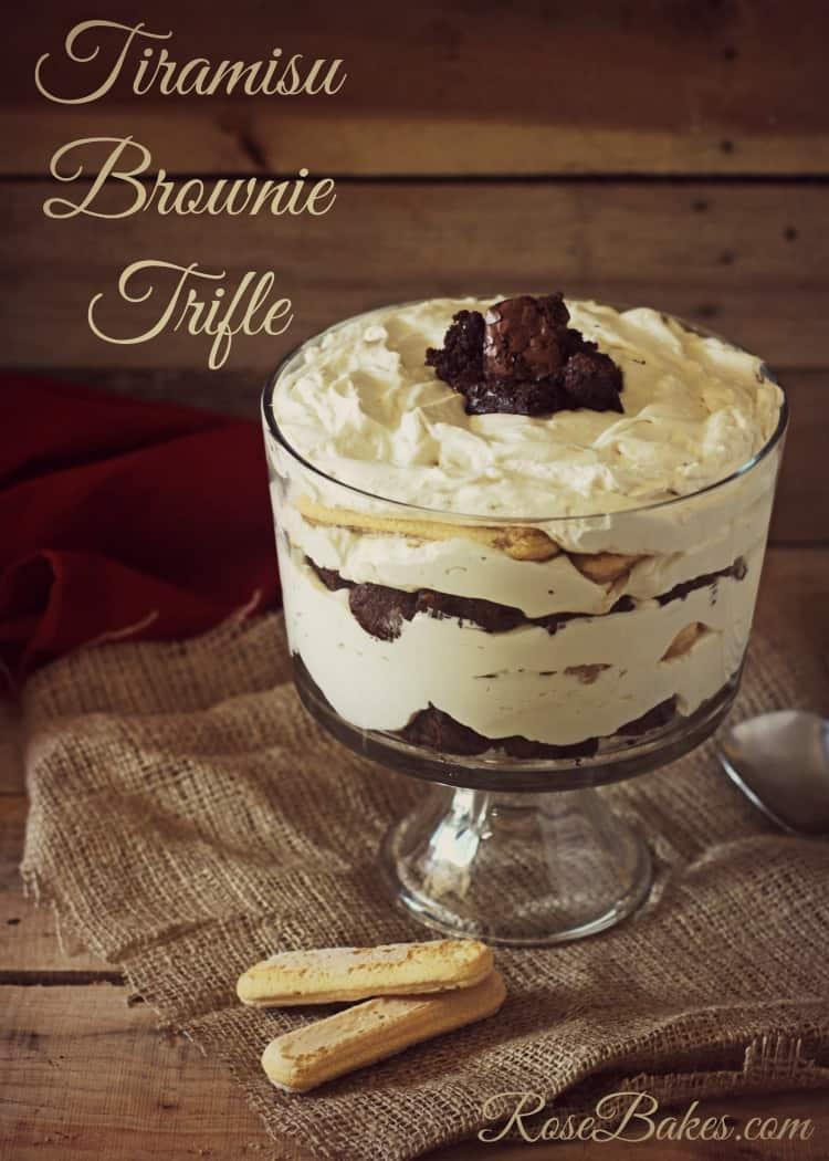 Tiramisu Brownie Trifle with Pillsbury Purely Simple Brownies