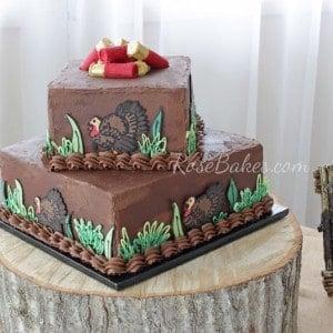Turkey-Hunting-Groom's-Cake-Table