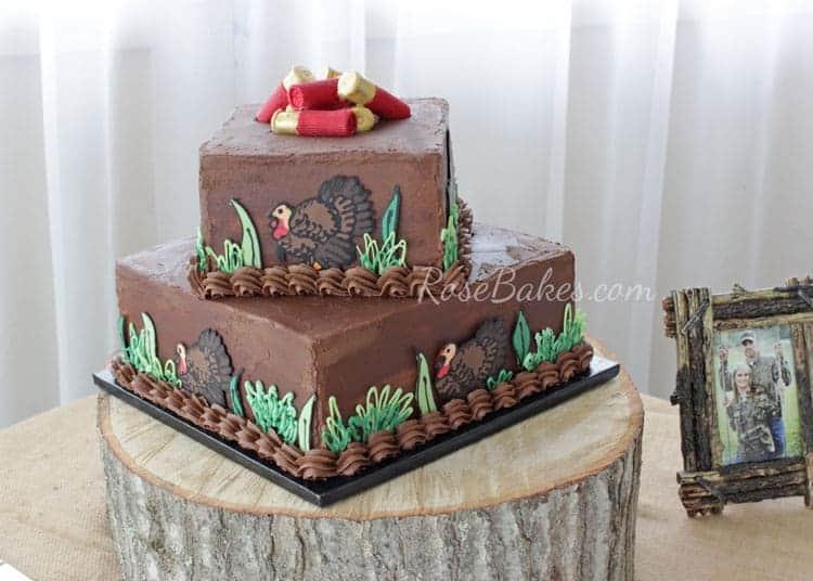 Turkey Hunting Cake Decorations : Turkey Hunting Groom s Cake - Rose Bakes