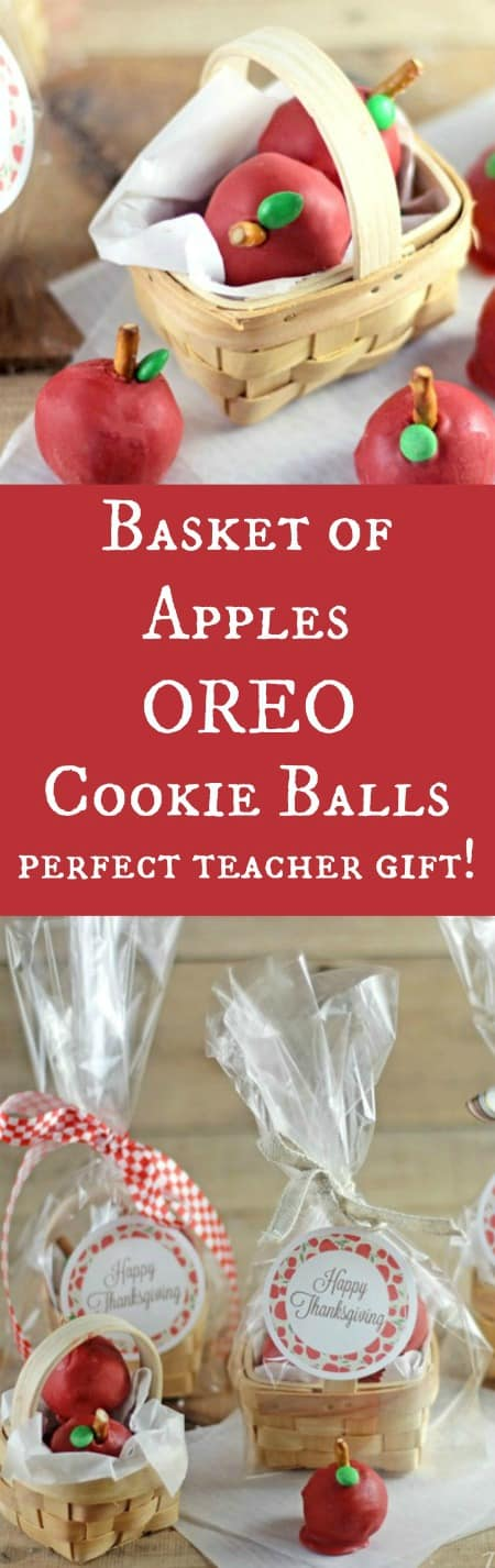 Basket of Apples OREO Cookie Balls Perfect Teacher Gift!