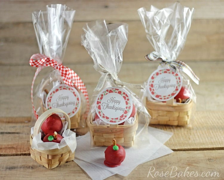 "Perfect Thanksgiving Gift for Teachers: A ""Basket of Apples"" - OREO Cookie Balls! by Rose Bakes"