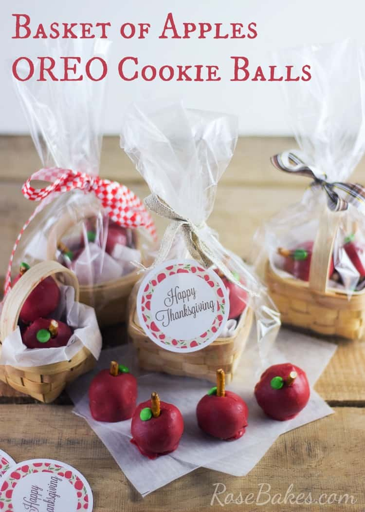 Basket of Apples OREO Cookie Balls