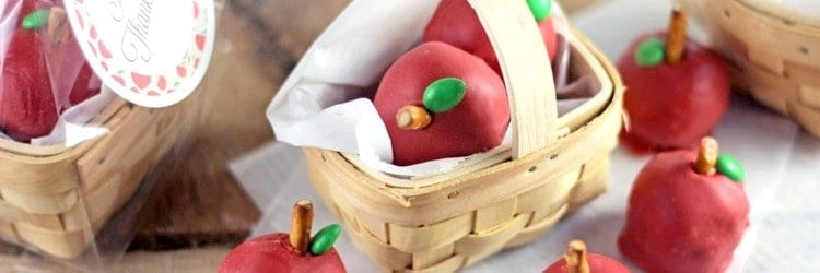 """Baskets of Apples"" OREO Cooke Balls"