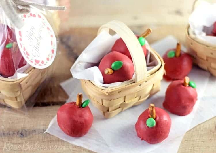 """Baskets of Apples"" OREO Cooke Balls"