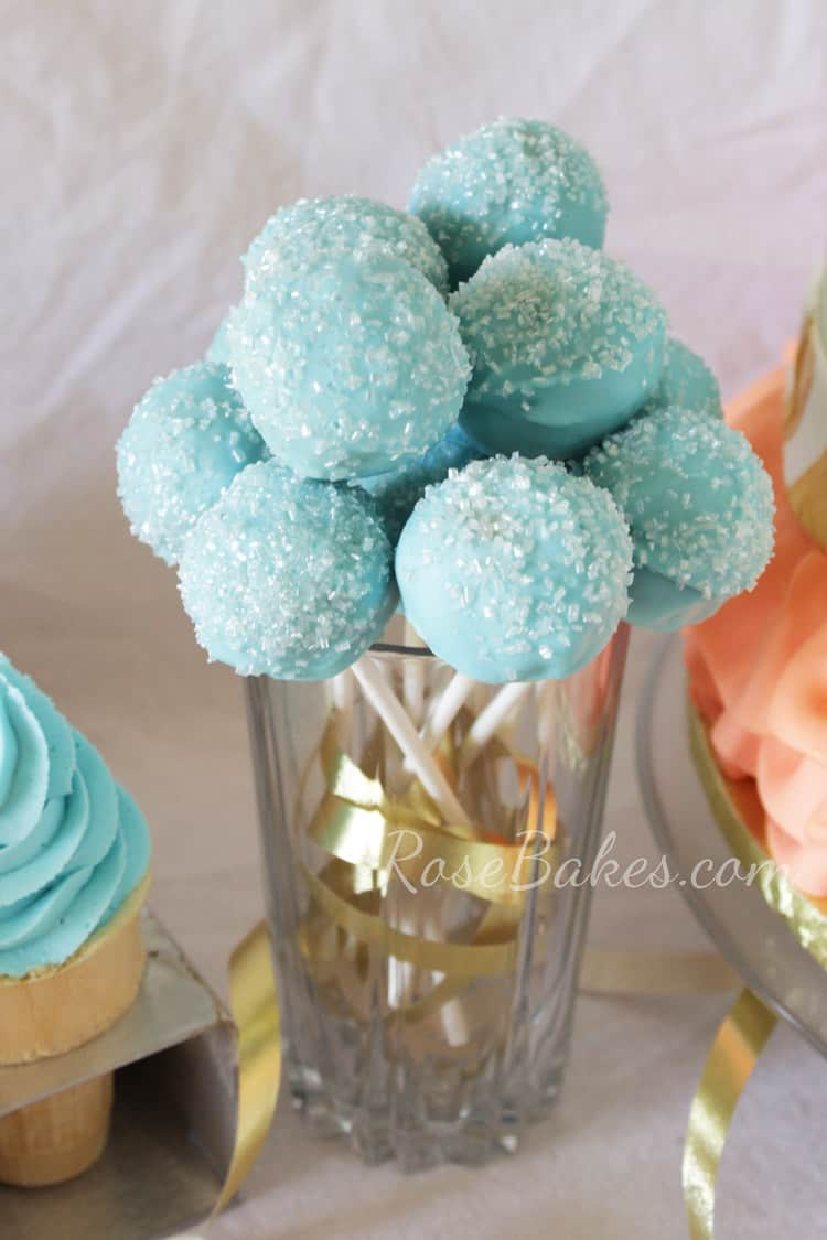 Tutus And Bow Ties Birthday Party Cake Cake Pops