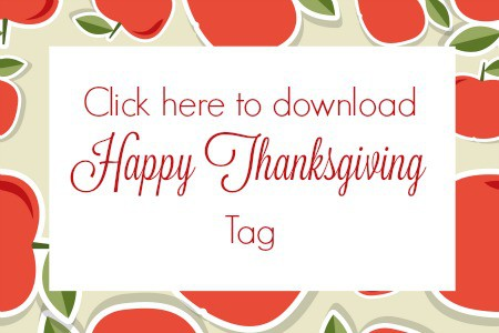 Button for Happy Thanksgiving Tag