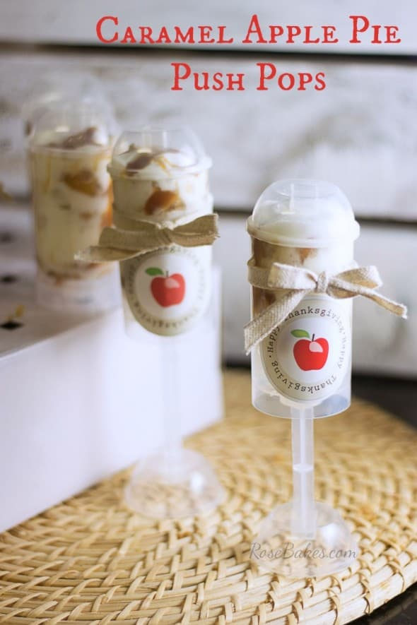 Caramel Apple Pie Push Pops | RoseBakes.com