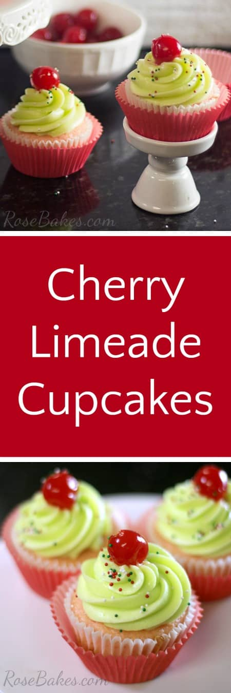 Cherry Limeade Cupcakes - Rose Bakes