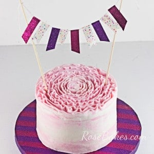How to Decorate a Cake Board & Make a Matching Bunting Topper