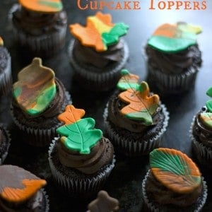 How to Make Easy Fall Leaf Cupcake Toppers