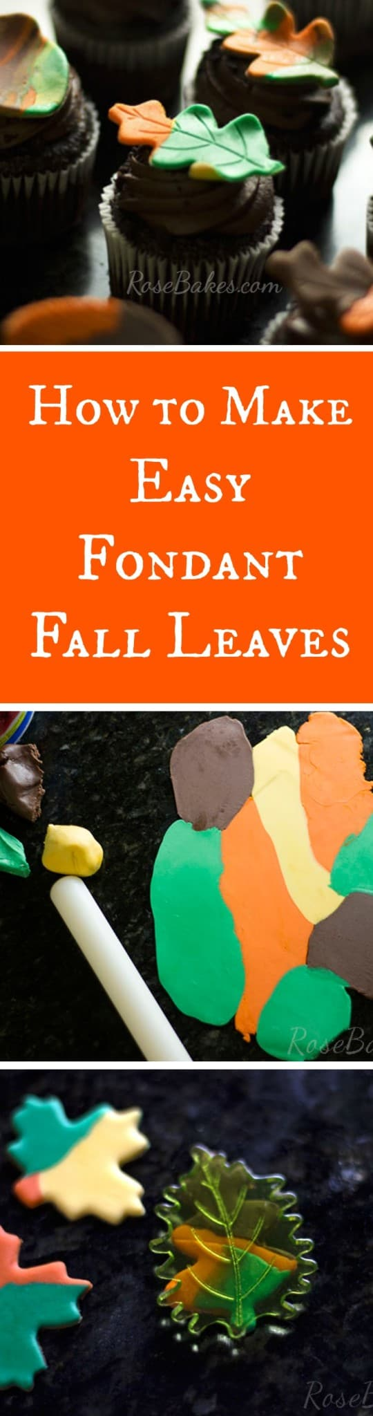 How to Make Fondant Fall Leaves RoseBakes