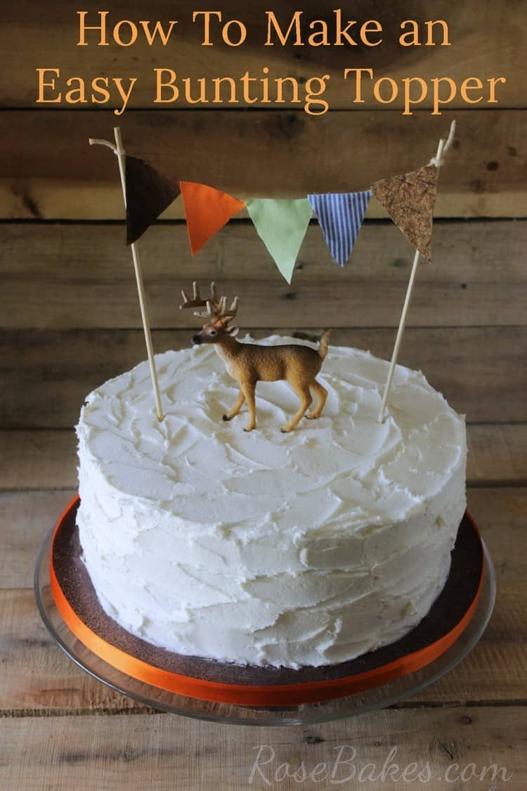 How to Make an Easy Bunting Cake Topper