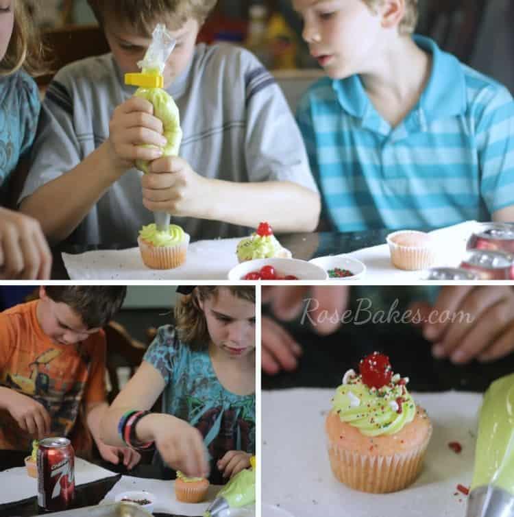 Kids Decorating Cupcakes 2