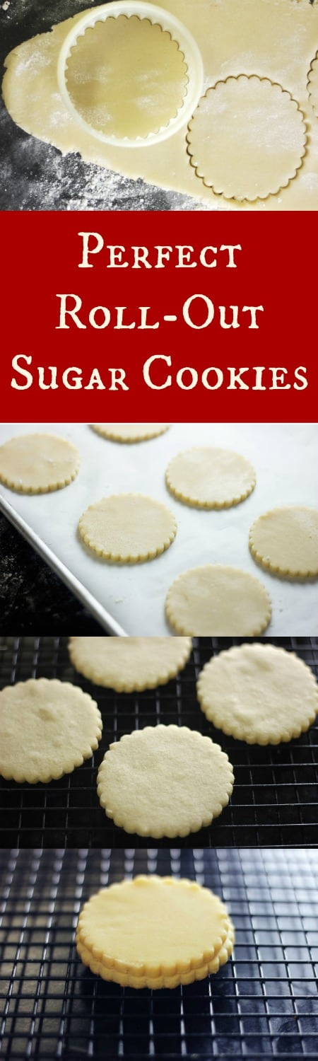 A perfect roll-out sugar cookie that cuts out perfectly and holds it's shape when baked! Oh and they also stay soft and taste fantastic! Perfect Recipe for Christmas Cookies! | RoseBakes.com