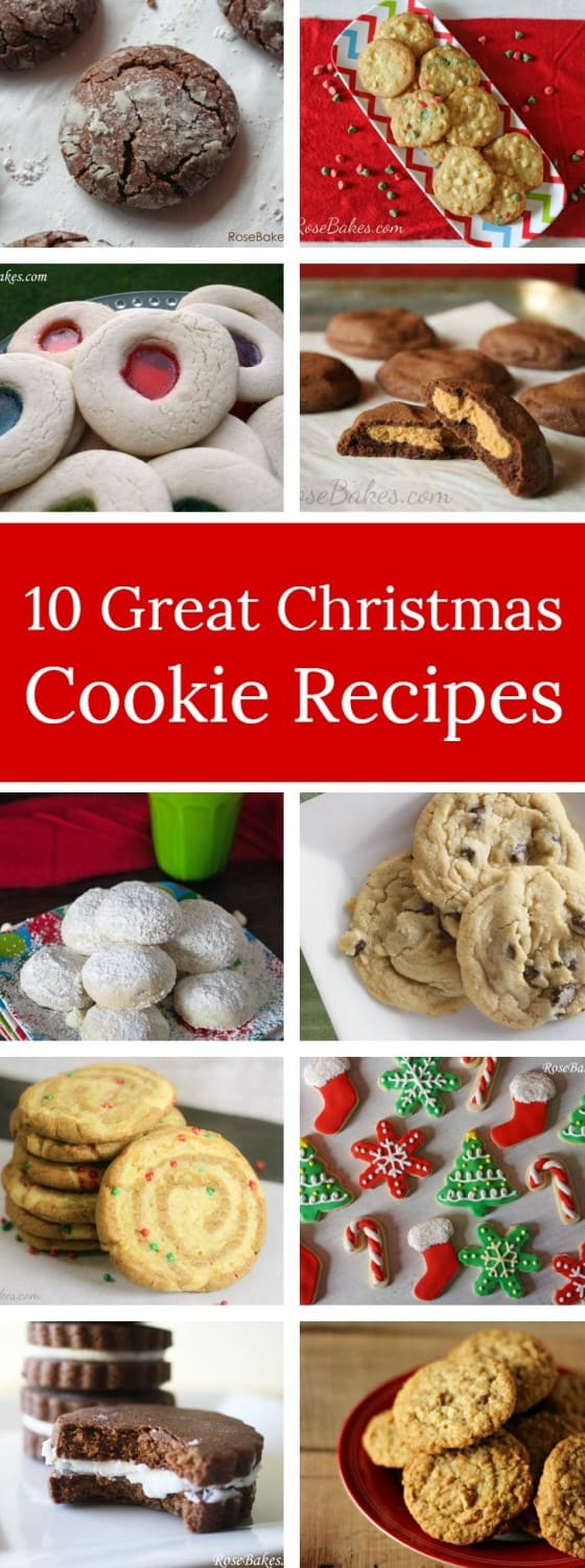 10 Great Christmas Cookie Recipes RoseBakes