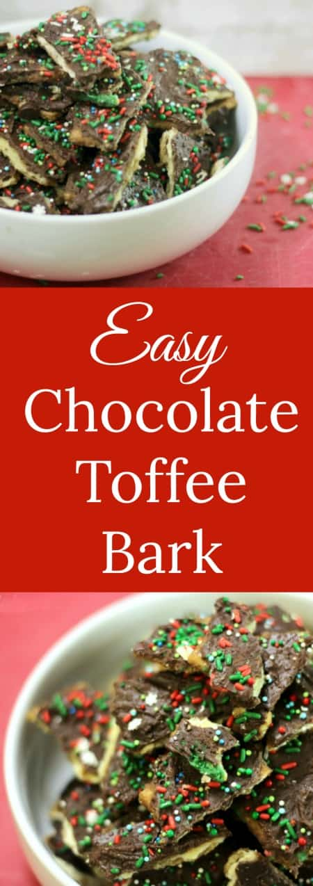 Easy Chocolate Toffee Bark | RoseBakes.com