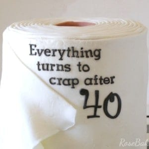 Everything Turns to Crap After 40 Cake