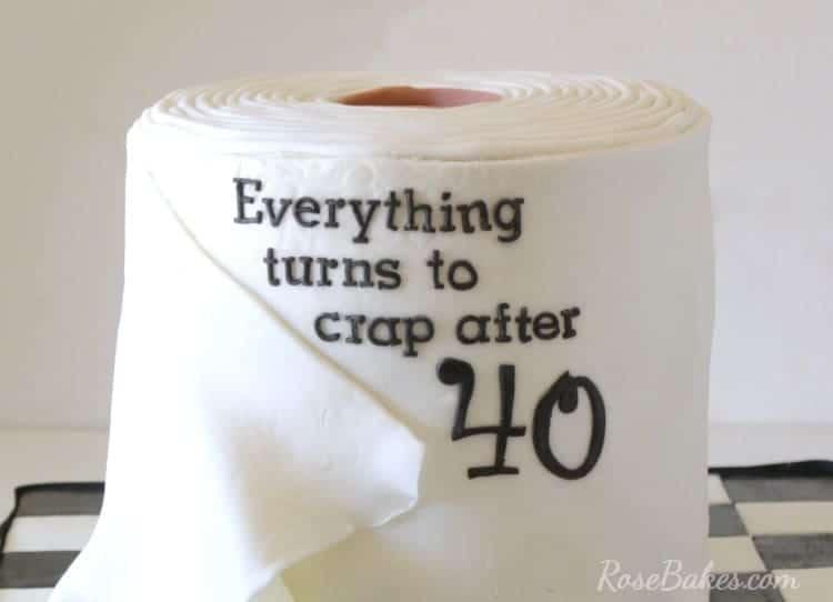 Toilet Paper Cake For 40th Birthday Rose Bakes