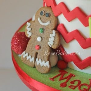 Christmas Cookie Decorating Birthday Party Cake