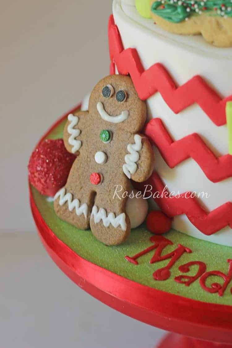 Christmas Cookie Decorating Birthday Party Cake - Rose Bakes