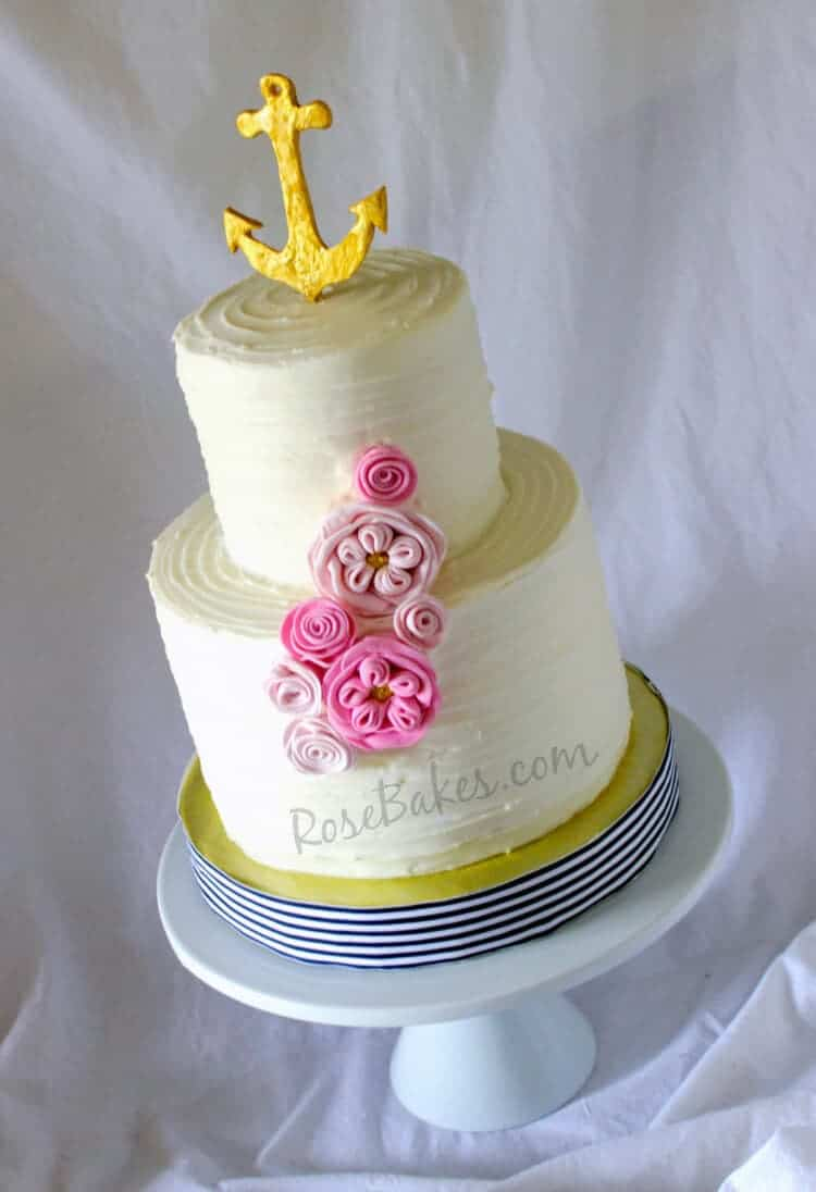 Girly Cake Images : Girly Nautical Anchor Cake - Rose Bakes