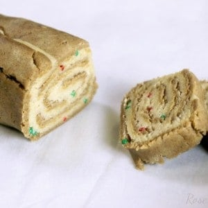 Gingerbread Sugar Cookie Pinwheels | RoseBakes.com #HolidayRemix #NestleTollhouse #sponsored