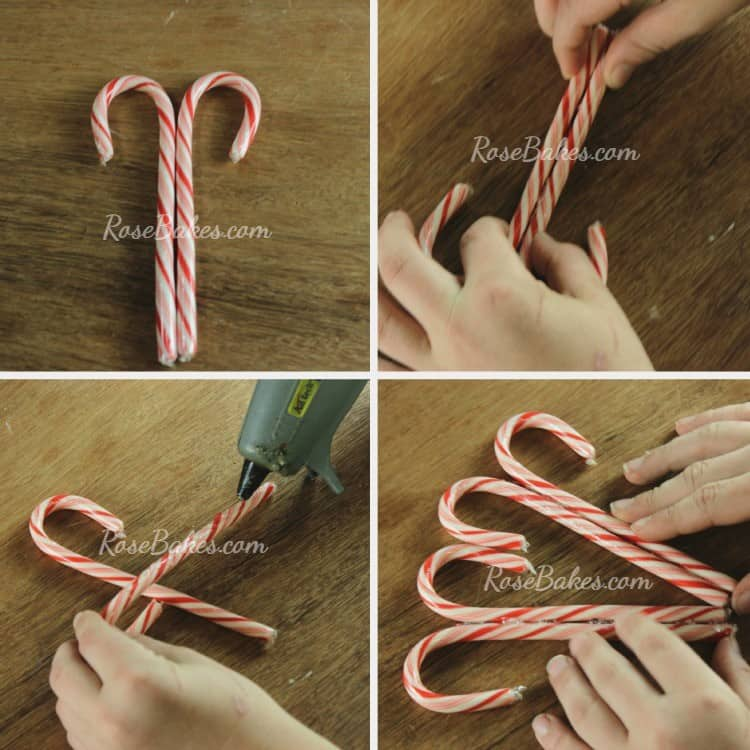 How to Make a Candy Cane Wreath 01