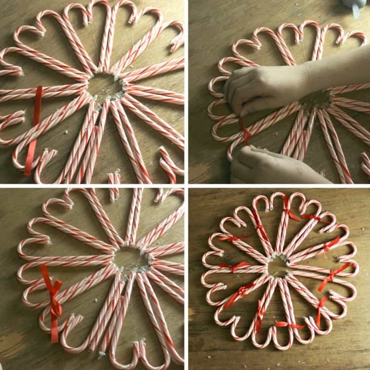 How to Make a Candy Cane Wreath 05