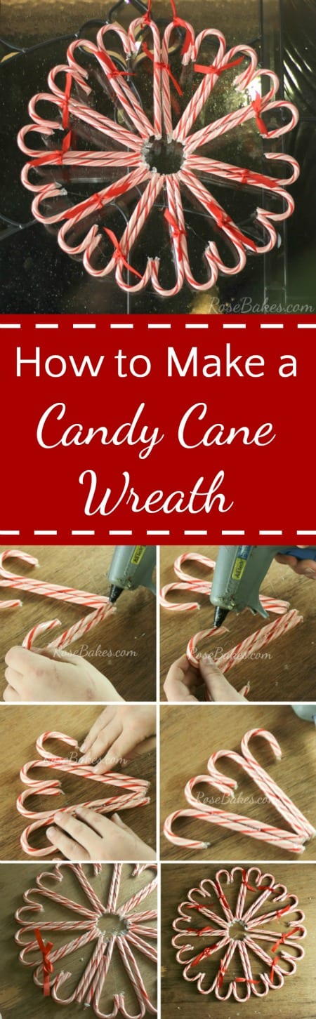 How to Make a Candy Cane Wreath | RoseBakes.com