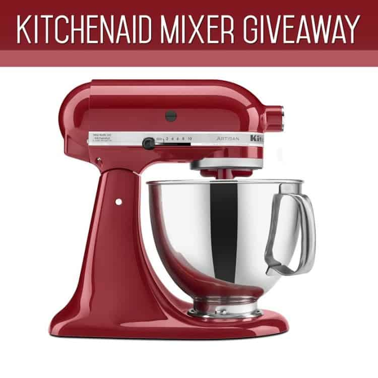 Click HERE to enter the Kitchenaid Mixer Giveaway!