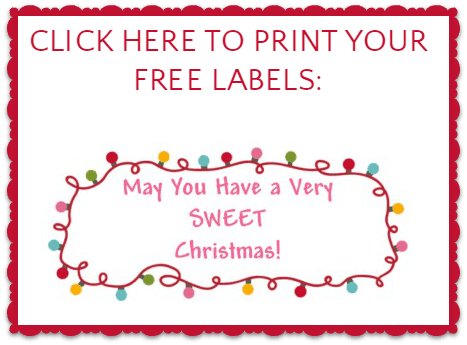 May You Have a Sweet Christmas Label