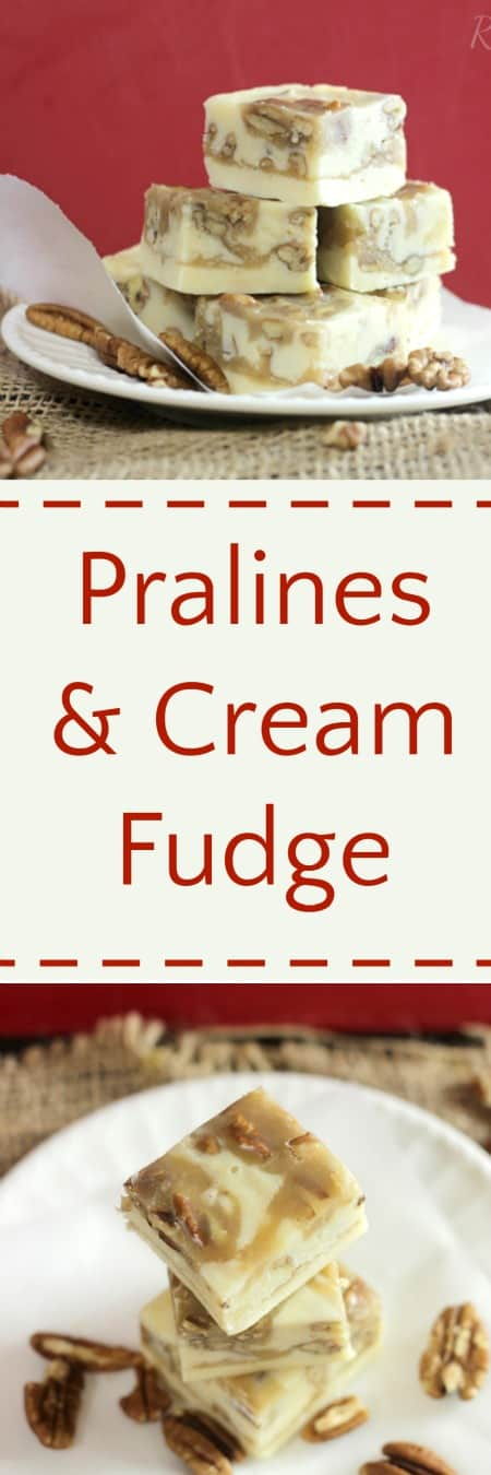 Pralines & Cream Fudge RoseBakes.com