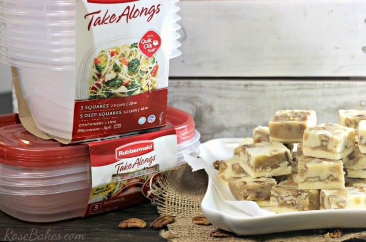 Pralines & Cream Fudge with Rubbermaid TakeAlongs