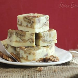 Pralines & Cream Fudge | RoseBakes.com