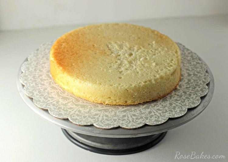 Red Velvet Strawberry Shortcake Cake with Cream Cheese Buttercream   RoseBakes.com
