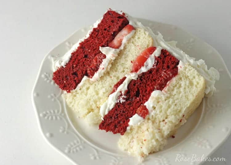 Red Velvet Strawberry Shortcake Cake With Cream Cheese