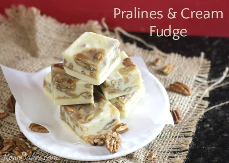 White Chocolate Praline Fudge Recipe