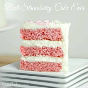 Best Strawberry Cake Ever