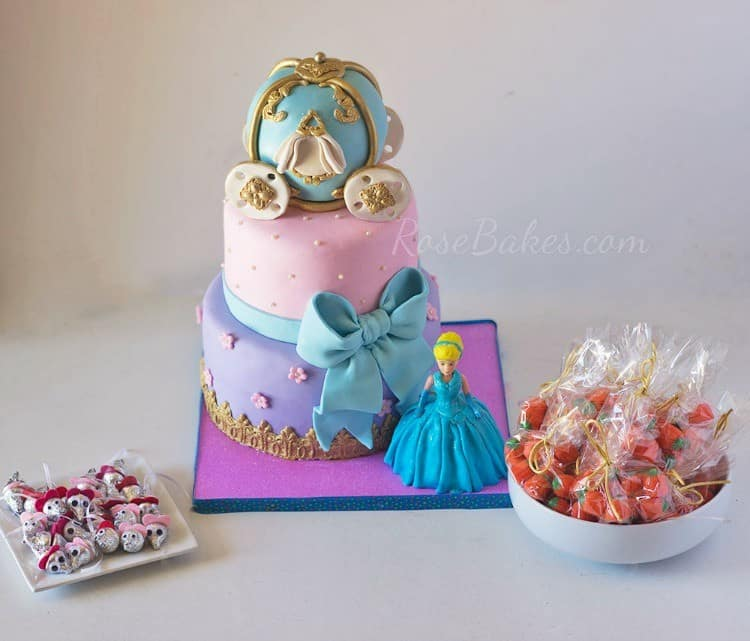 Cinderella Cake and Party Favors