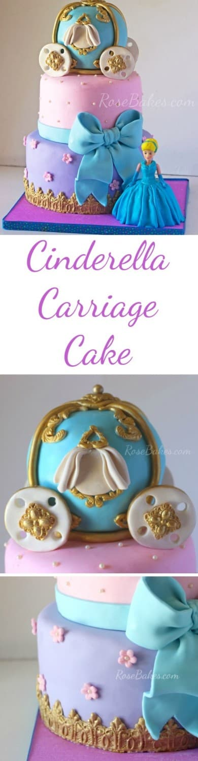 Cinderella Carriage Cake RoseBakes