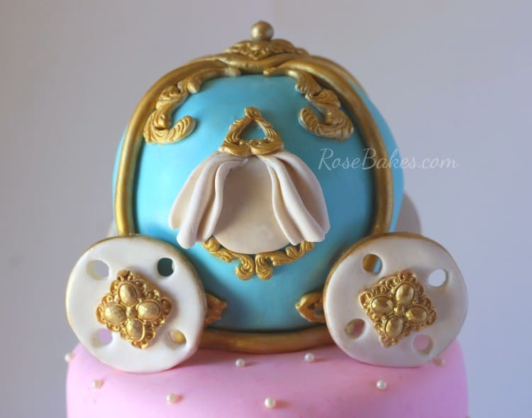 Cinderella Carriage Cake Topper for Cinderella Birthday Cake