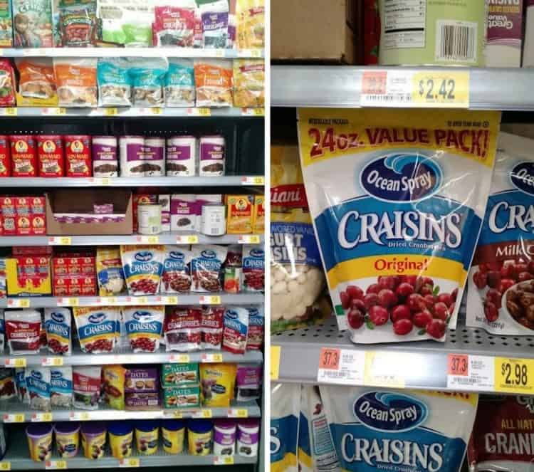 Craisins at Walmart