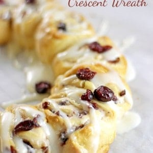 Cranberry Cream Cheese Crescent Wreath