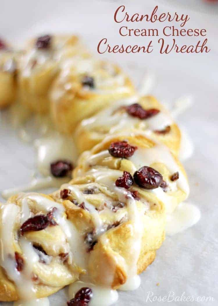 Cranberry Cream Cheese Crescent Wreath 02