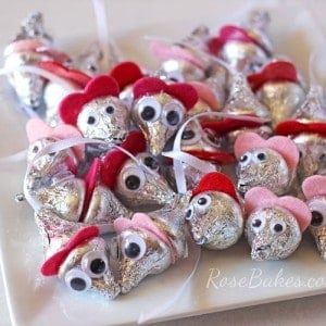 Hershey Kisses Mice for Cinderella Party Favors