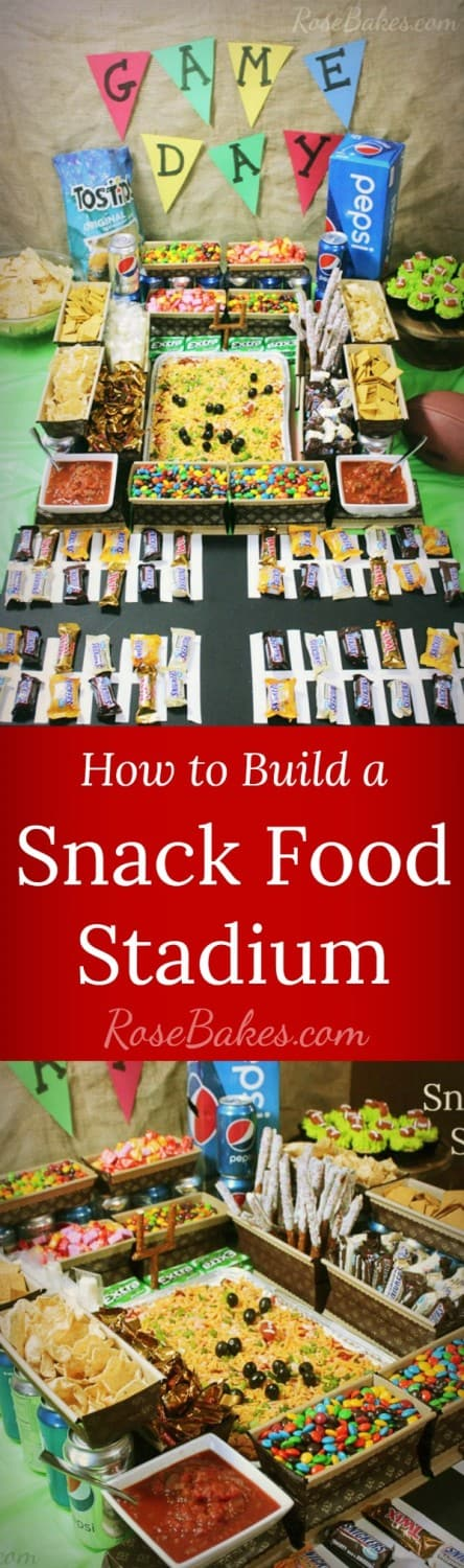 How to Build a Snack Food Stadium RoseBakes