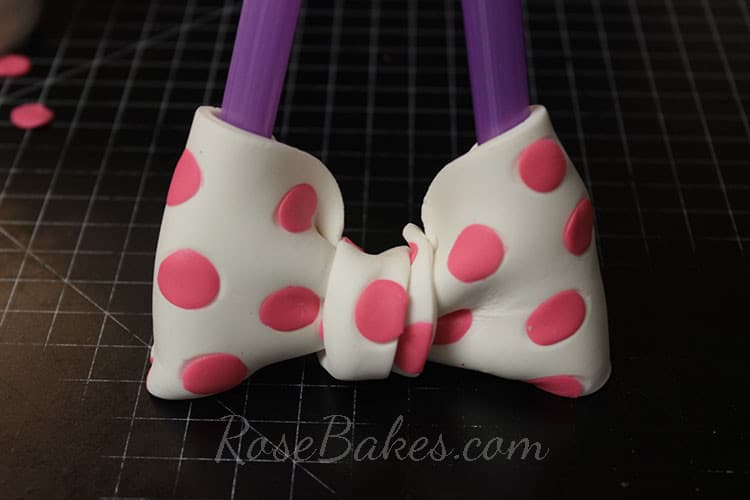 How to Make Polka Dot Bow 19