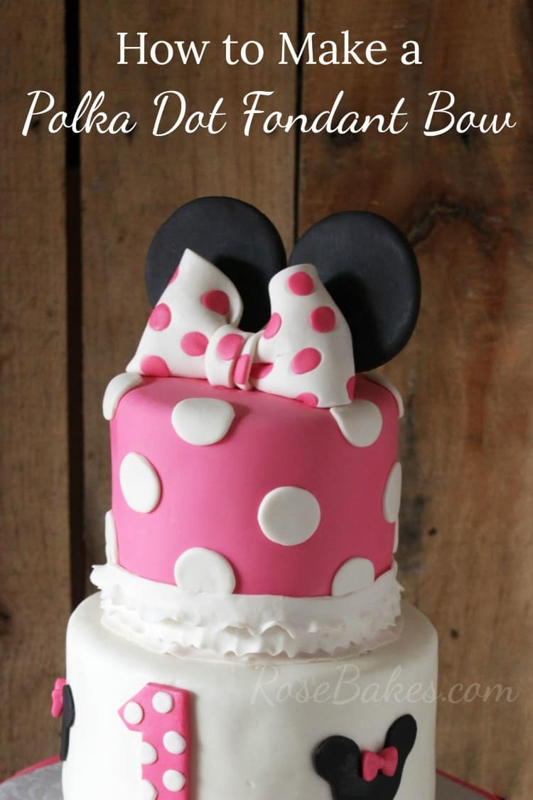 How To Make A Polka Dot Fondant Bow (a Minnie Mouse Bow