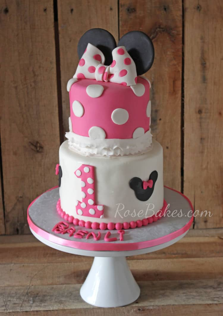 Minnie Mouse Cake with Bow & Ruffles